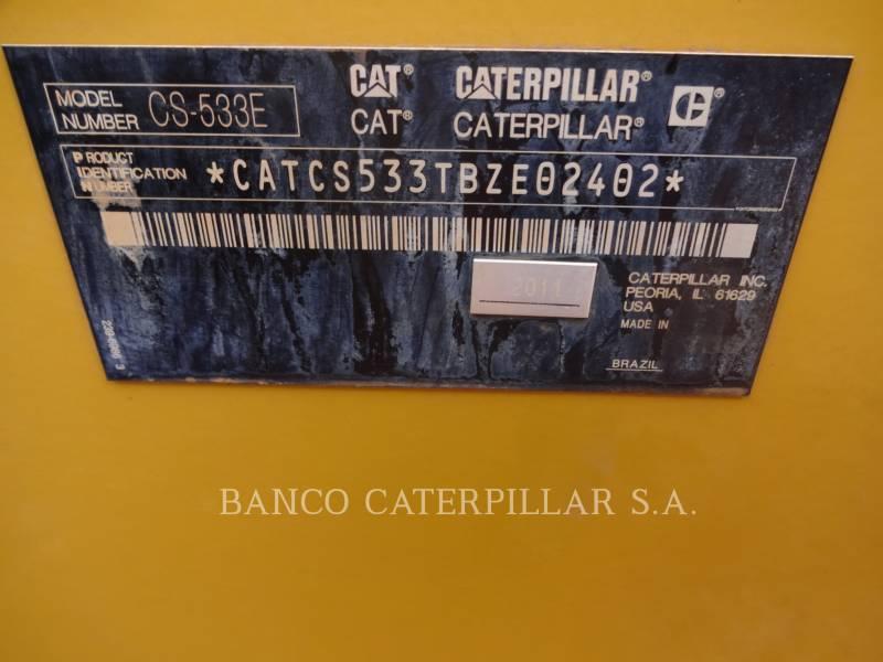 CATERPILLAR COMPACTEUR VIBRANT, MONOCYLINDRE LISSE CS-533E equipment  photo 5