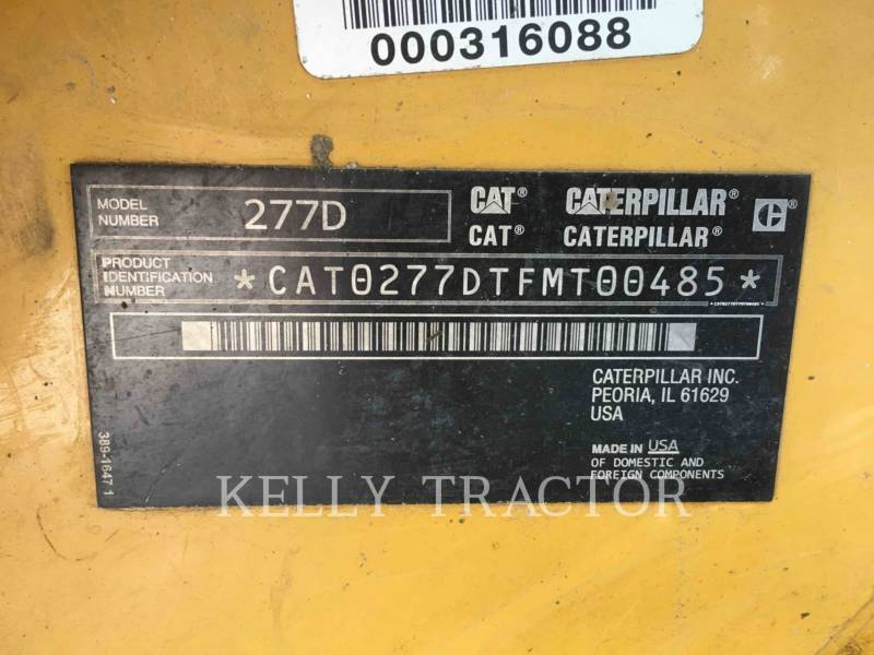CATERPILLAR CHARGEURS TOUT TERRAIN 277D equipment  photo 15