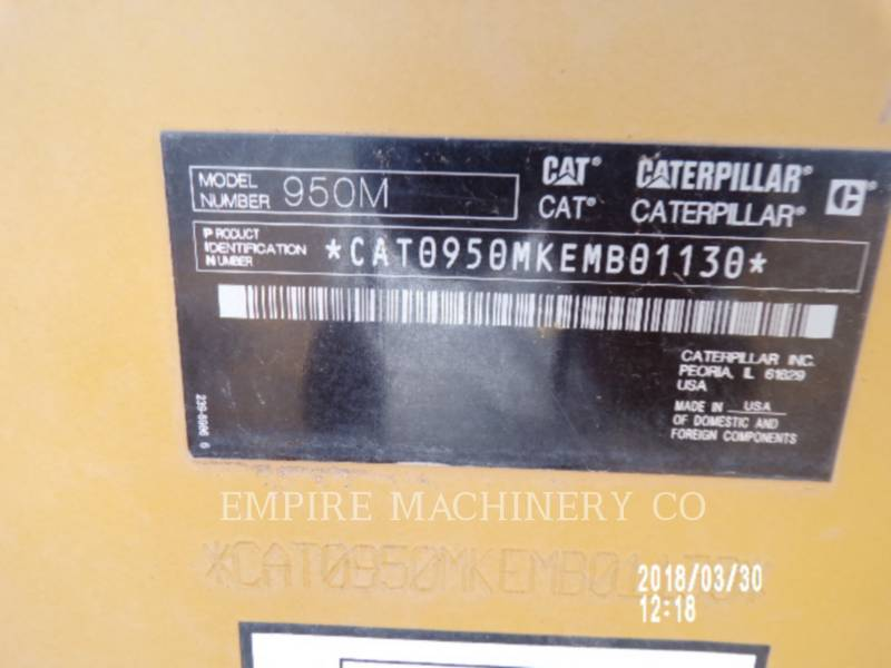 CATERPILLAR WHEEL LOADERS/INTEGRATED TOOLCARRIERS 950M equipment  photo 14