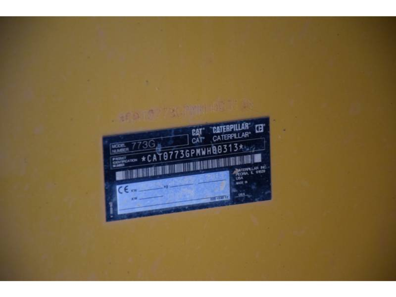 CATERPILLAR 鉱業用ダンプ・トラック 773 G equipment  photo 4