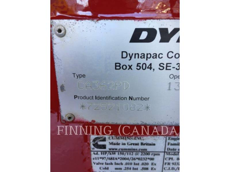 DYNAPAC COMPACTORS CA362PD equipment  photo 5