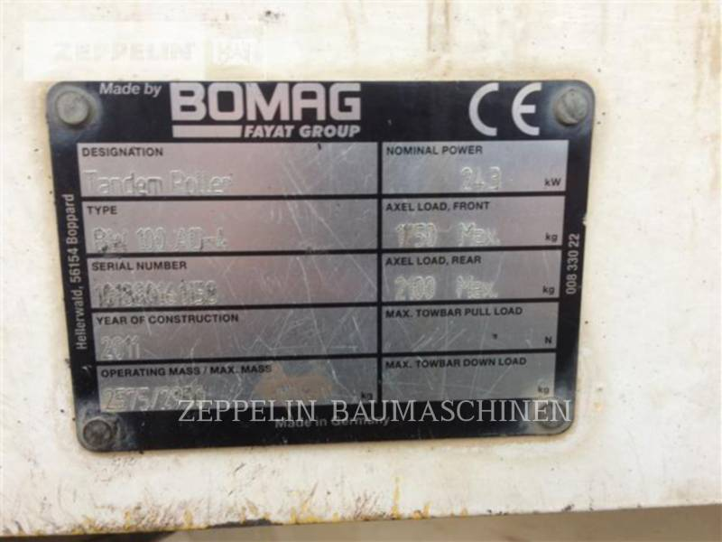BOMAG COMPACTORS BW100AD4 equipment  photo 5