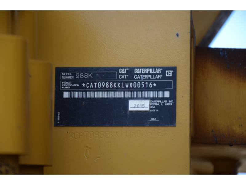 CATERPILLAR CHARGEURS SUR PNEUS/CHARGEURS INDUSTRIELS 988K equipment  photo 5