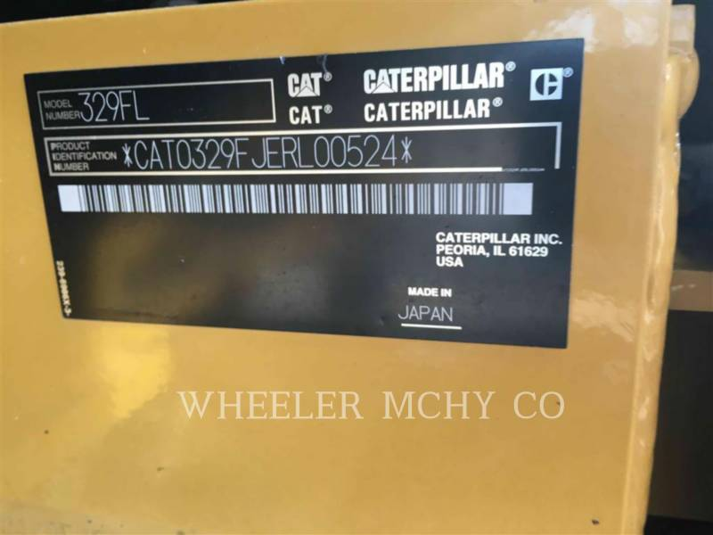 CATERPILLAR TRACK EXCAVATORS 329F L CFM equipment  photo 7