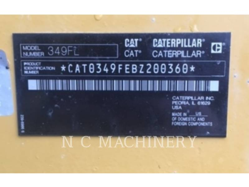 CATERPILLAR PELLES SUR CHAINES 349F L equipment  photo 5