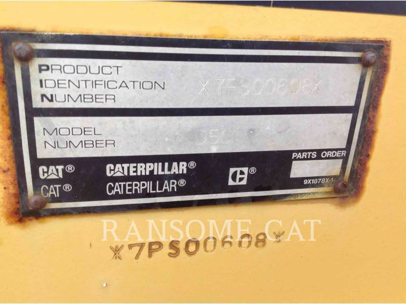 CATERPILLAR TRACK TYPE TRACTORS D5CIIIXL equipment  photo 5