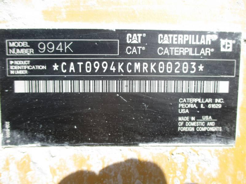 CATERPILLAR CARGADORES DE RUEDAS 994KLRC equipment  photo 6