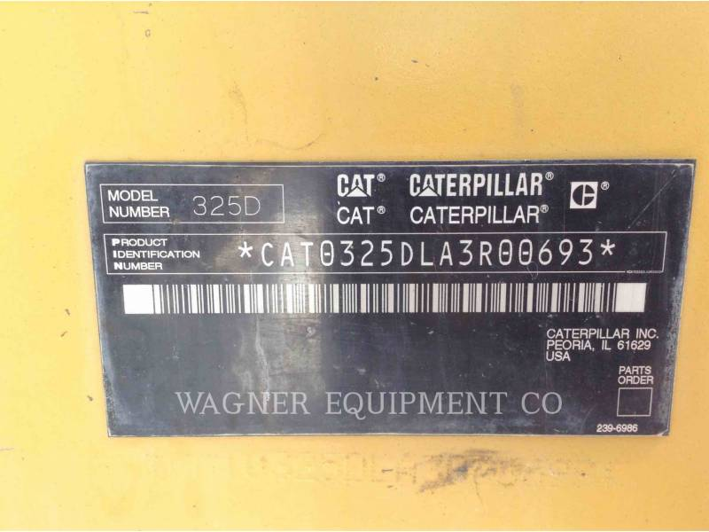 CATERPILLAR PELLES SUR CHAINES 325DL THB equipment  photo 8