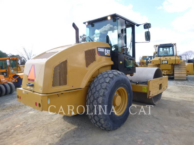 CATERPILLAR EINZELVIBRATIONSWALZE, GLATTBANDAGE CS66B equipment  photo 3