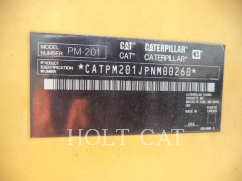 CATERPILLAR WT - COLD PLANER PM201 equipment  photo 5