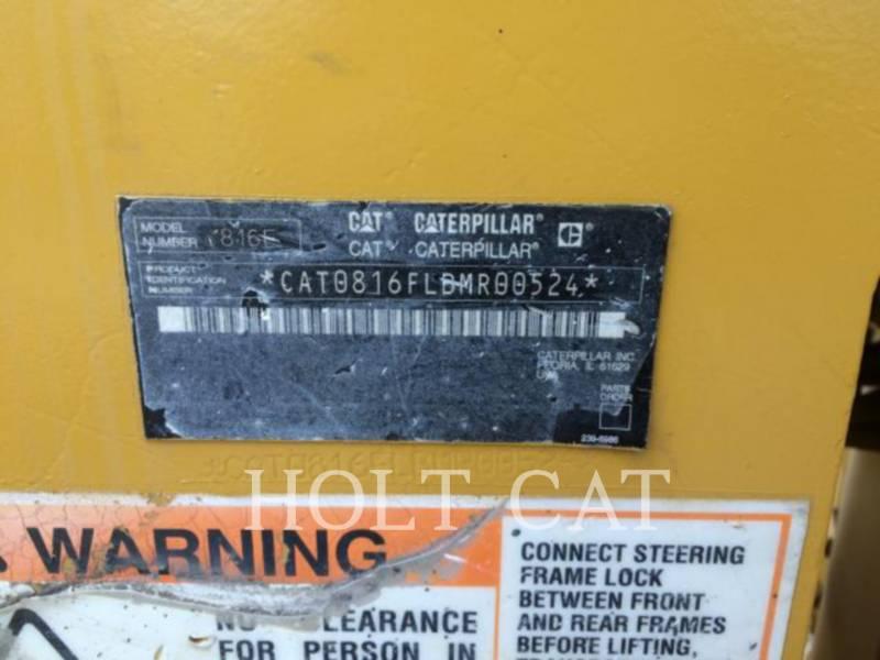 CATERPILLAR COMPACTEURS 816F equipment  photo 5