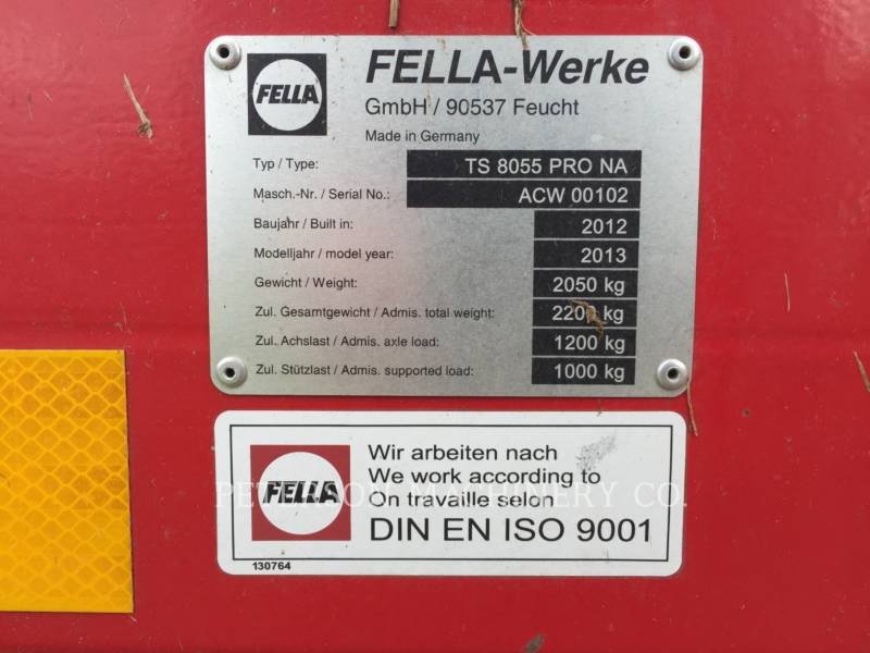 FELLA MATERIELS AGRICOLES POUR LE FOIN TS8055PRO equipment  photo 5