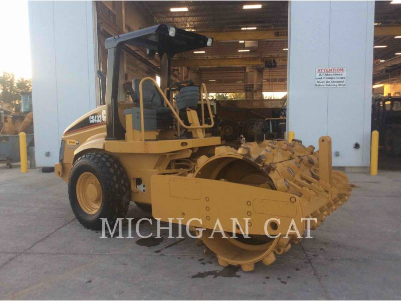 CATERPILLAR EINZELVIBRATIONSWALZE, GLATTBANDAGE CS-433E equipment  photo 2