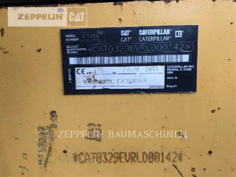 CATERPILLAR KETTEN-HYDRAULIKBAGGER 329ELN equipment  photo 16