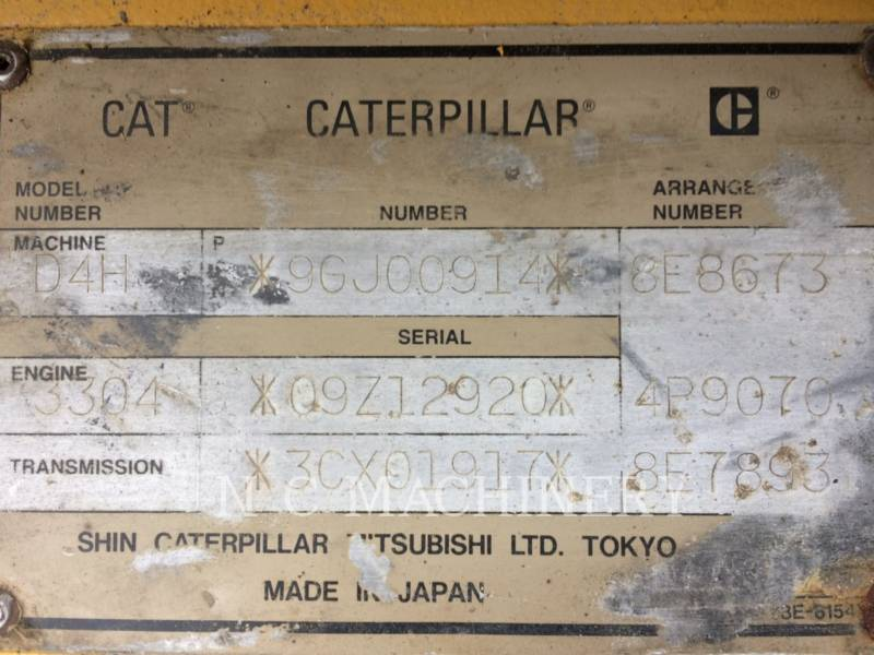 CATERPILLAR TRACTORES DE CADENAS D4HIILGP equipment  photo 9