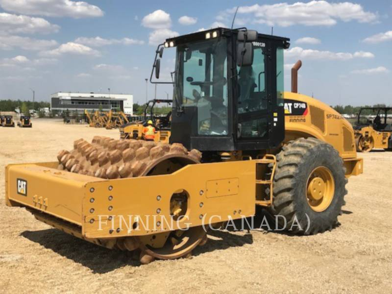 CATERPILLAR COMPACTEUR VIBRANT, MONOCYLINDRE À PIEDS DAMEURS CP74B equipment  photo 2