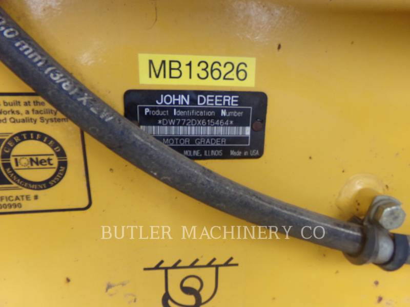 DEERE & CO. MOTONIVELADORAS 772D equipment  photo 7