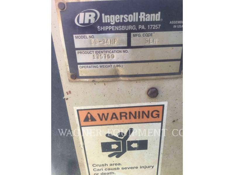 INGERSOLL-RAND COMPACTEURS DD34 HF equipment  photo 5