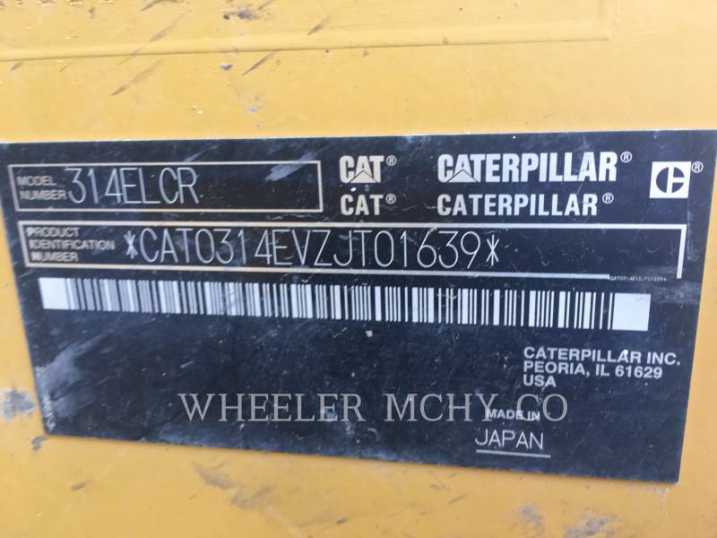CATERPILLAR KETTEN-HYDRAULIKBAGGER 314E L CF equipment  photo 10