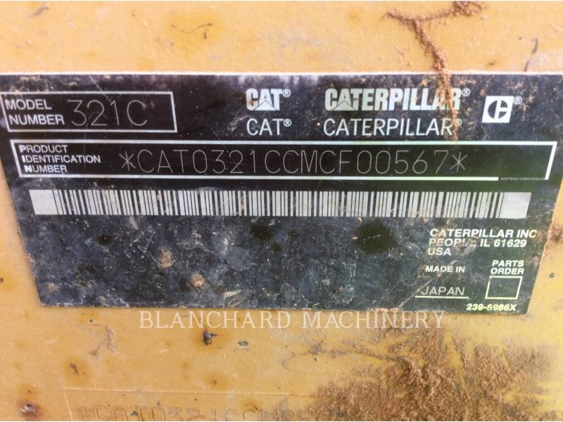 CATERPILLAR ESCAVATORI CINGOLATI 321CL equipment  photo 8
