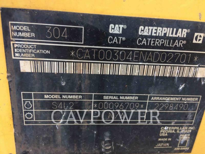 CATERPILLAR TRACK EXCAVATORS 304CR equipment  photo 5