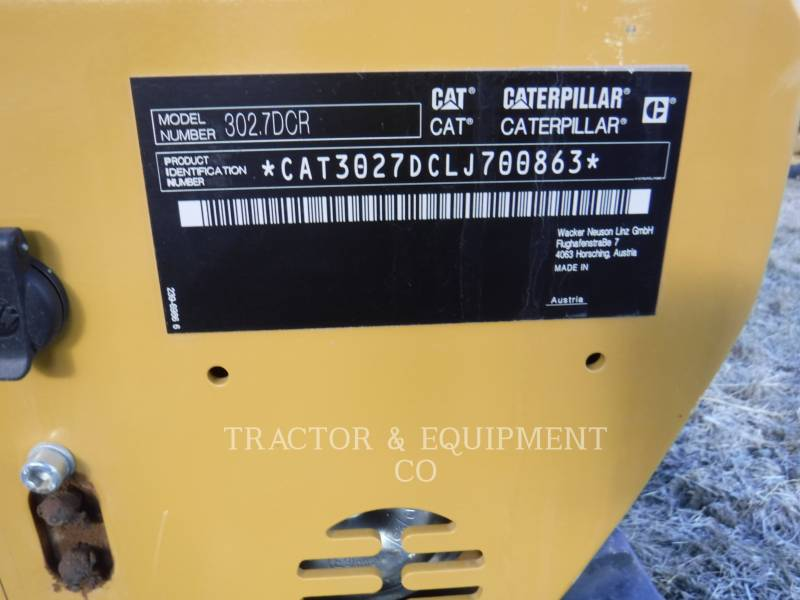 CATERPILLAR EXCAVADORAS DE CADENAS 302.7DCRCB equipment  photo 3