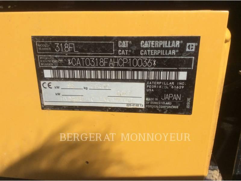 CATERPILLAR KETTEN-HYDRAULIKBAGGER 318FL equipment  photo 21