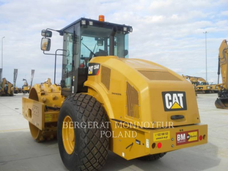 CATERPILLAR EINZELVIBRATIONSWALZE, GLATTBANDAGE CS 64 B equipment  photo 2