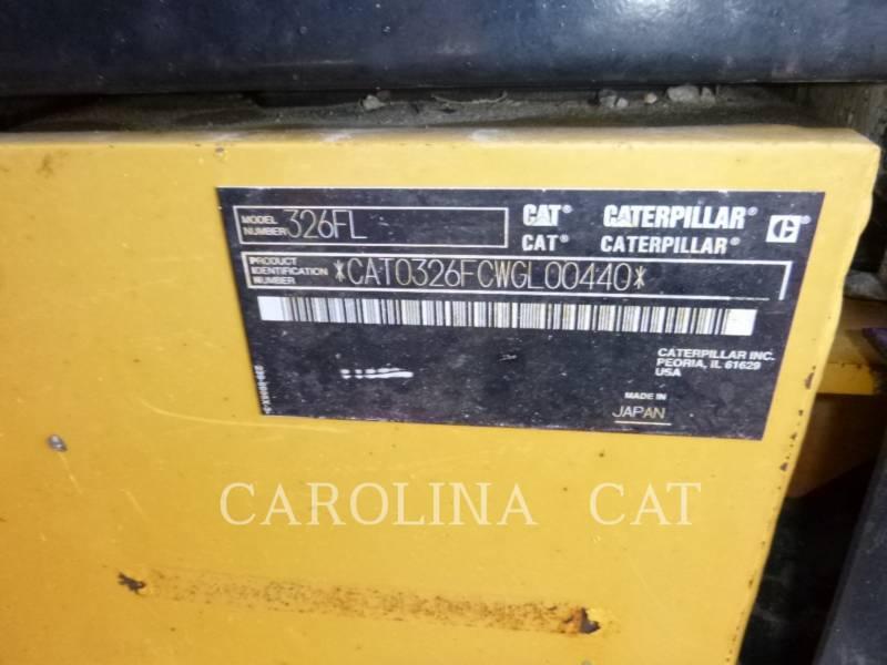 CATERPILLAR KETTEN-HYDRAULIKBAGGER 326FL equipment  photo 11
