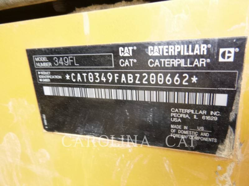 CATERPILLAR TRACK EXCAVATORS 349FL equipment  photo 13