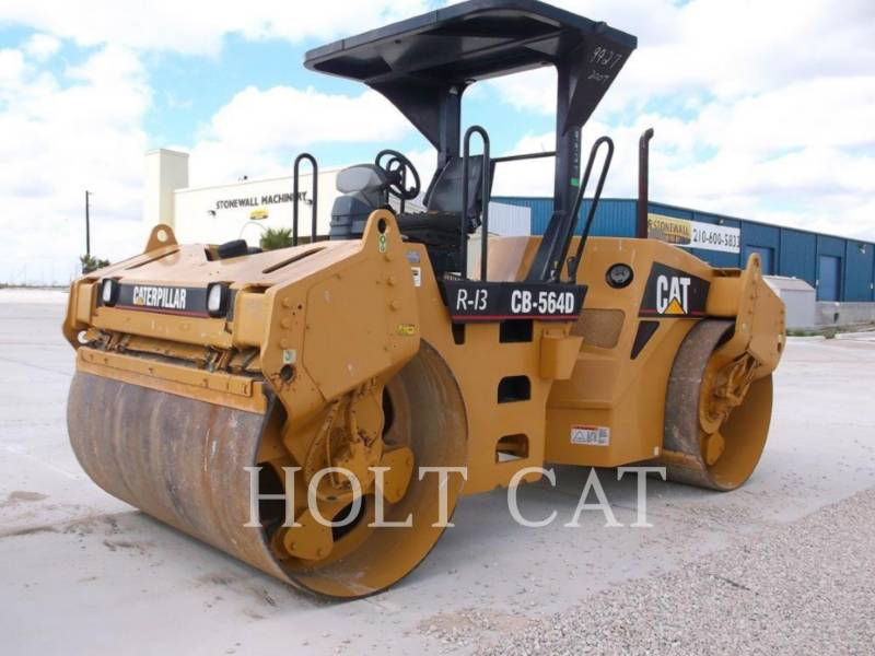 CATERPILLAR TANDEMVIBRATIONSWALZE, ASPHALT CB-564D equipment  photo 2