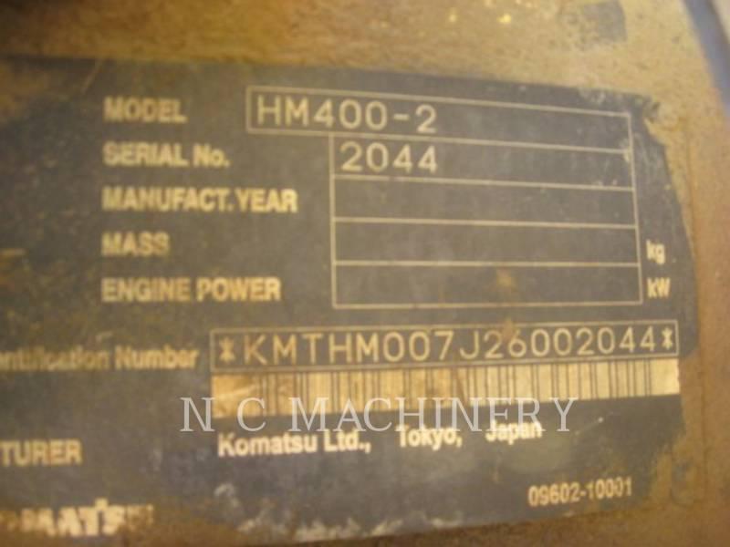 KOMATSU TOMBEREAUX ARTICULÉS HM400-2 equipment  photo 5