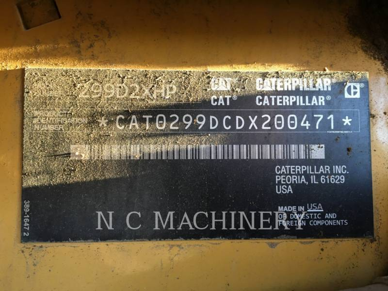 CATERPILLAR MULTI TERRAIN LOADERS 299D2XHP equipment  photo 2