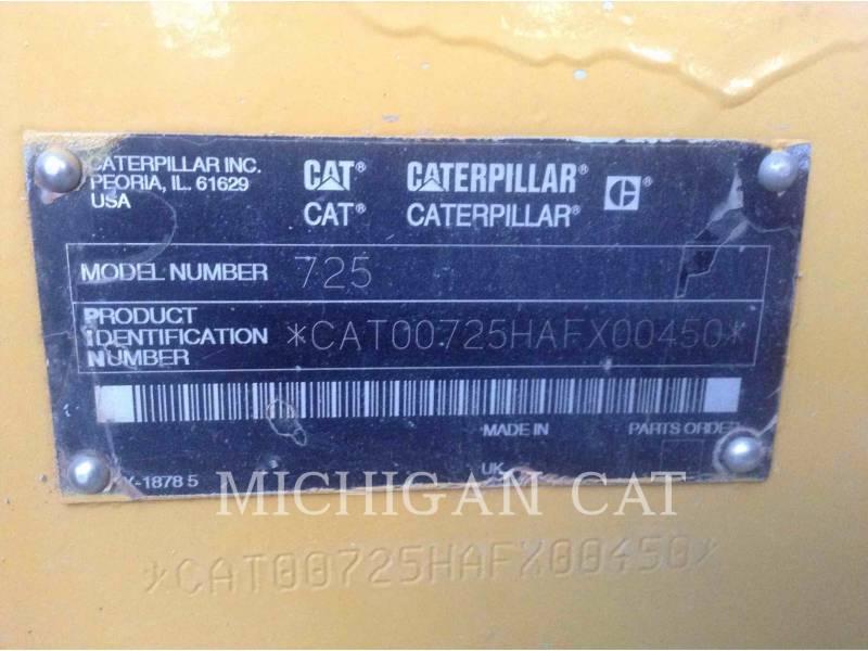 CATERPILLAR SAMOCHODY-CYSTERNY 725 WW equipment  photo 21