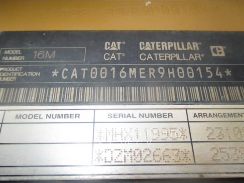 CATERPILLAR NIVELEUSES 16M equipment  photo 9