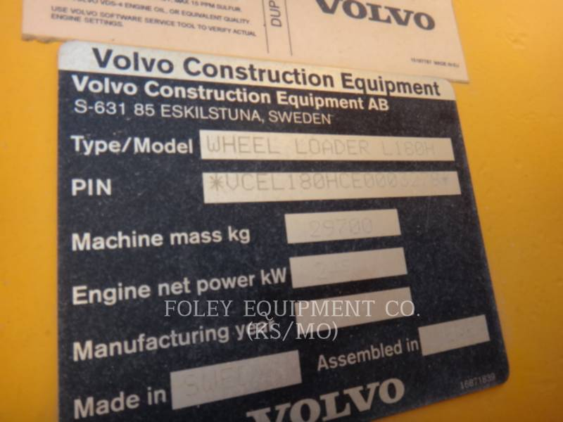 VOLVO CONSTRUCTION EQUIPMENT CARGADORES DE RUEDAS L180H equipment  photo 6