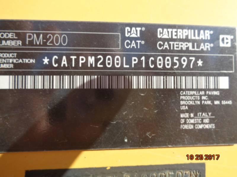 CATERPILLAR COLD PLANERS PM-200 equipment  photo 14
