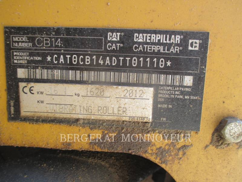 CATERPILLAR COMPACTEURS CB14 equipment  photo 2