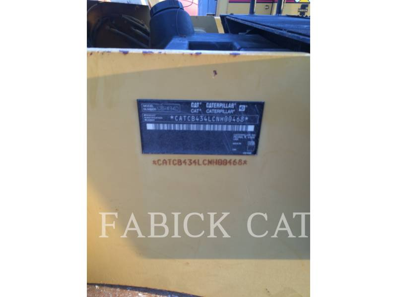 CATERPILLAR TAMBOR DOBLE VIBRATORIO ASFALTO CB434D equipment  photo 5