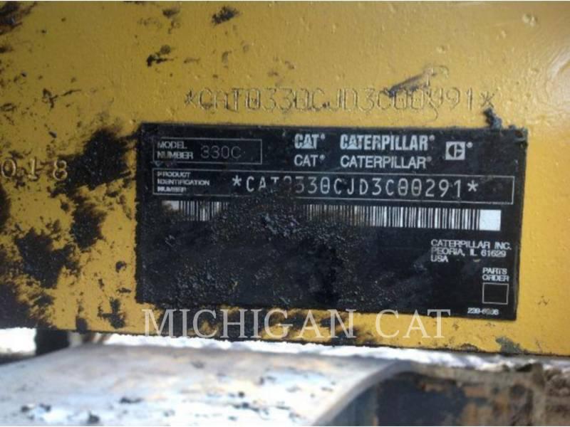 CATERPILLAR TRACK EXCAVATORS 330CL MH equipment  photo 12