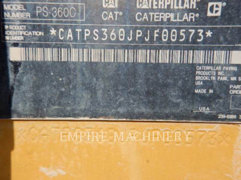 CATERPILLAR PNEUMATIC TIRED COMPACTORS PS-360C equipment  photo 7