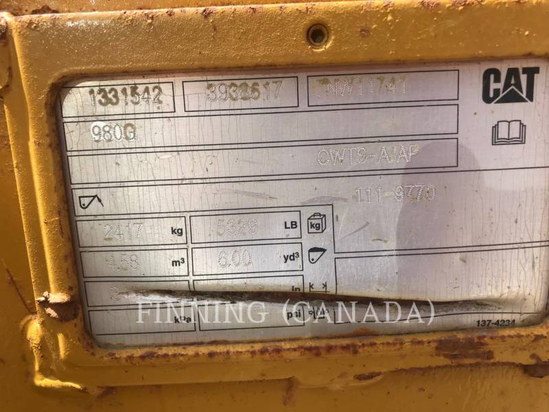 CATERPILLAR CHARGEURS SUR PNEUS/CHARGEURS INDUSTRIELS 980K equipment  photo 7