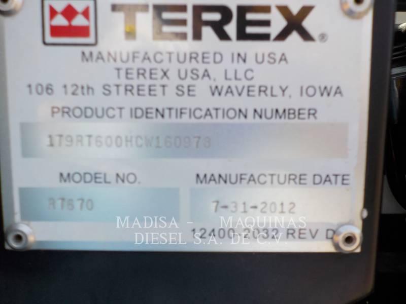 TEREX CORPORATION ŻURAWIE RT670 equipment  photo 4