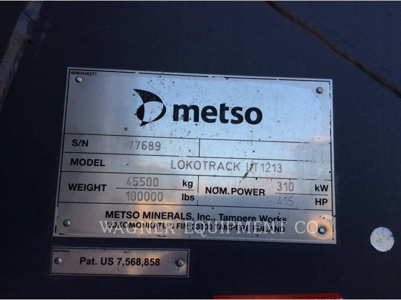 METSO CONCASSEURS LT1213 equipment  photo 5