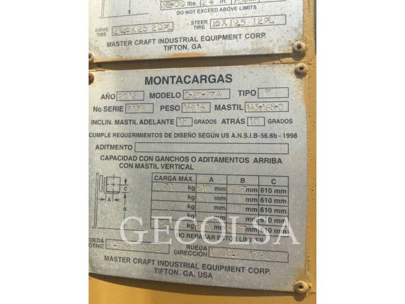 MASTERCRAFT FORKLIFTS C20 974 equipment  photo 6