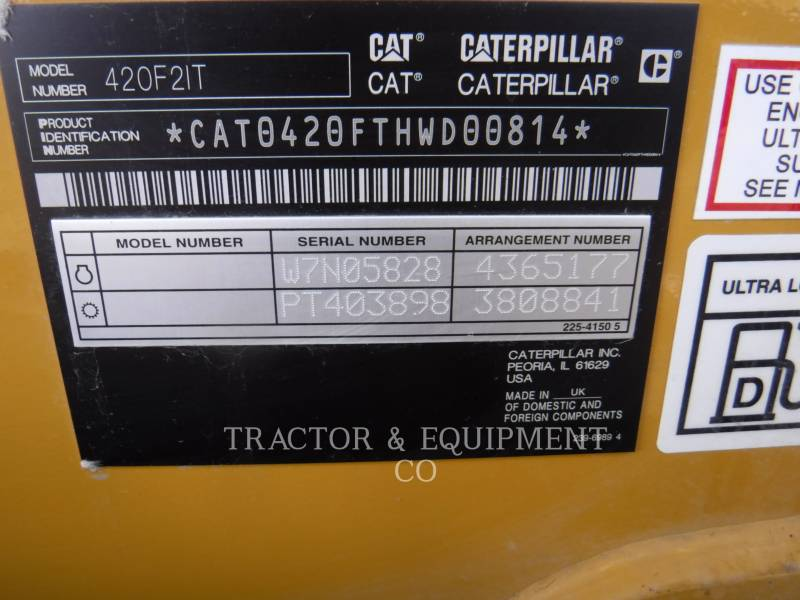 CATERPILLAR KOPARKO-ŁADOWARKI 420F24ETCB equipment  photo 2