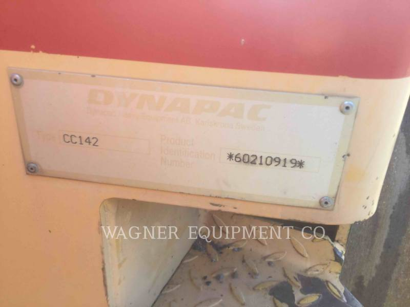 DYNAPAC VERDICHTER CC142 equipment  photo 8