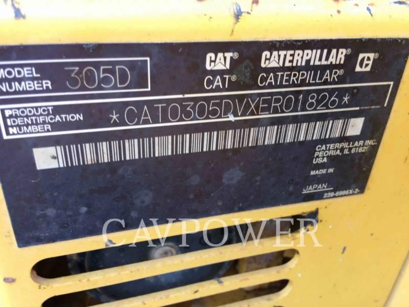 CATERPILLAR TRACK EXCAVATORS 305DCR equipment  photo 5
