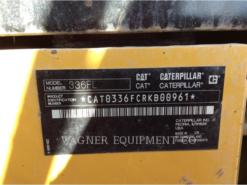 CATERPILLAR EXCAVADORAS DE CADENAS 336FL HMR equipment  photo 5