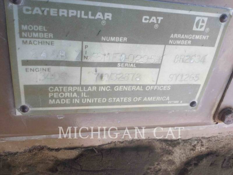 CATERPILLAR KETTEN-HYDRAULIKBAGGER 245B equipment  photo 7